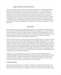 Quantitative Research Proposal Template Research Proposal Example ...