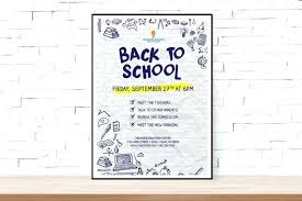 School Open House Flyer New Template Templates Invitation ...