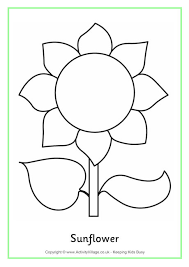 Small Picture Sunflower Colouring Page 2
