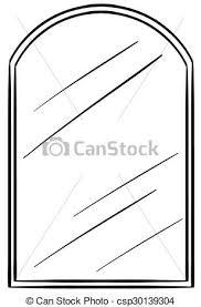 mirror clipart black and white. glass mirror with frame - csp30139304 clipart black and white