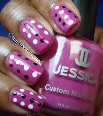 Without Nail Pink And Black Polka Dot Nail Art Designs Dots Art ...