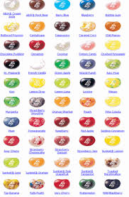 Jelly Belly Flavor Chart Jelly Bean Flavors Jelly Belly