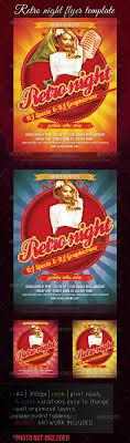 Retro Night Flyer Template | Pinterest | Flyer Template, Template ...