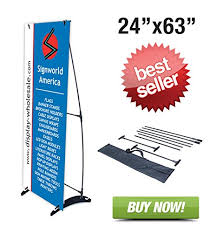 Artistic Displays Banner Stands Best Amazon Signworld H Banner Display Stand Portable Outdoors 32