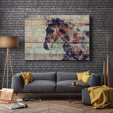 fire horse 2 extra large horse unique horse wall decor horse canvas wall art the beyer foundation