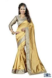 new fashion week zoya silk saree un28214 gold free size amazon in clothing accessories