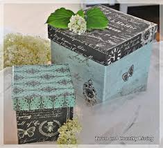 Paper Mache Boxes To Decorate Life as a Decoupeur Papier mache Scrapbook paper and Scrapbook 15