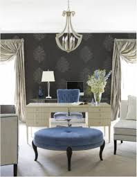 professional office decorating ideas pictures. blue tufted chair with classic white desk for professional office decorating ideas grey wallpaper pictures n