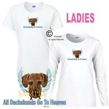 Dachshund Size Chart Details About Dachshund Dog Breed Angel Art Dogs Go To Heaven Ladies White T Shirt S 3x