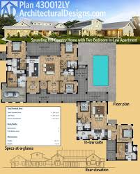 hill country house plans. Architectural Designs Hill Country House Plan 430012LY Has Its Own In-law Suite! The Plans