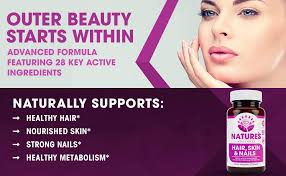 hair skin nails supplement biotin silica vitamins thinning hair growth thick strong men and women