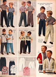 sears catalog spring summer 1958 boys shirts and slacks