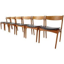 set of six danish teak dining chairs designed by erik buch for o d danish modern dining