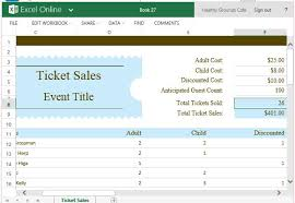 Free Templates For Tickets Ticket Sales Tracker Template For Excel