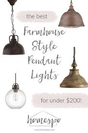 farmhouse style lighting fixtures. click through to shop my favorite farmhouse style pendant lights all are under 200 lighting fixtures