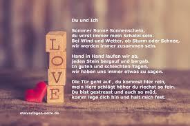 Kurzes Liebesgedicht Du Und Ich Für Verliebte Unter Uns