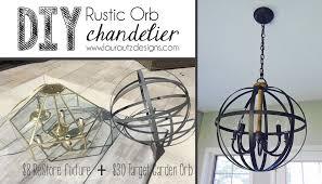 diy orb chandelier rustic laura utz designs pertaining to ideas 9