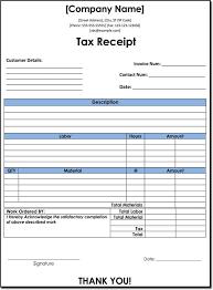 10 Tax Receipt Templates Donation Tax Income Tax