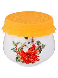 <b>Банка для мёда</b>/сухих продуктов с силиконовой крышкой ...