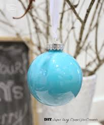 diy super easy opaque glass ornaments at thehappyhousie closeup