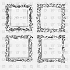 antique square decorative vintage frame vector image vector artwork of borders and frames antkevyv to zoom