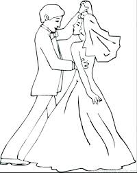 Coloring Pages Wedding Coloring Pages For Weddings Dance Coloring