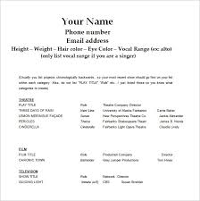 Sample Actors Resume Beginners New Actor Resume Format Beautiful