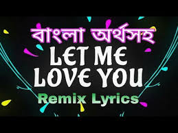 let me love you meaning full