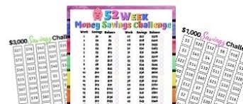 7 Free 52 Week Money Saving Challenge Printables Hassle