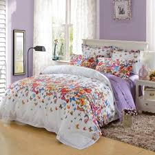 beautiful bright colorful erfly print modern chic romantic luxury egyptian cotton full queen size bedding