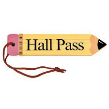 Hall Passes For School School Passes Clipart
