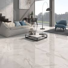 excellent ideas porcelain tile living room calacatta white gloss floor tiles have a stylish marble effect