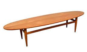 henredon side table mid century modern light walnut surfboard coffee table heritage henredon mahogany side table