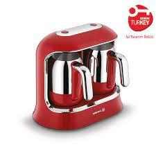 Korkmaz Kahvekolik Twin Kırmızı/Krom Otomatik Kahve Makinesi A861