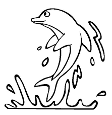 Small Picture Jumping Dolphin on The Water Sea Animals Coloring Page Download
