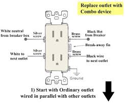 how to replace outlet combo switch combo switch replaces outlet