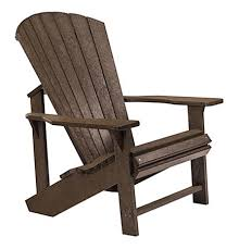 recycled plastic adirondack chairs. Colour - Chocolate Brown. Recycled Plastic Adirondack Chairs E