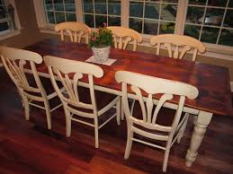 Pine Kitchen Tables And Chairs White Pine Barn Wood Table With Antique White Legs And Glaze Our