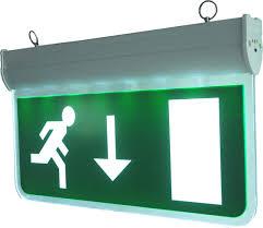 led emergency exit sign blade rmd