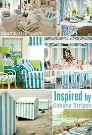 create a beach vacation feeling in your home with blue cabana