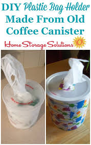 make a bag dispenser using a coffee canister or oatmeal container