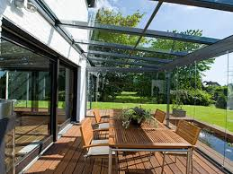 construct a glass canopy for patios