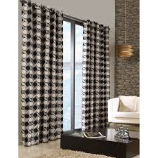 Black Patterned Curtains Magnificent Decorating