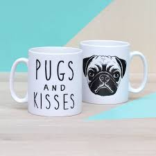 pugs and kisses ceramic mug