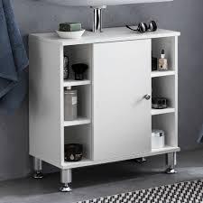 Wohnling Waschbeckenunterschrank 60 X 64 X 32 Cm Weiß Badschrank Mit