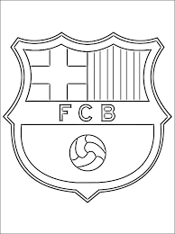 Small Picture soccer coloring pages Coloring page with logo of Barcelona
