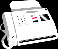Fax Free Stock Photo Illustration Of A White Fax Machine 8640