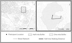 Example Half And One Mile Walking Distance Buffers Le Open I