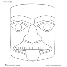 Totem Pole Design Template The Best Free Totem Coloring Page Images Download From 145