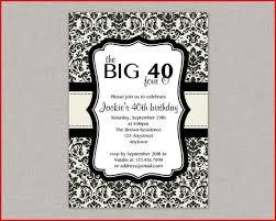 40th Birthday Invitations Free Templates Surprise 40th Birthday Invitation Free Template 40th